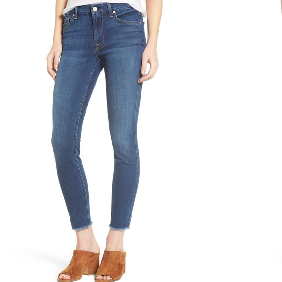 7 For All Mankind Denim - 7 For All Mankind b(air) The Ankle Raw Hem Jeans